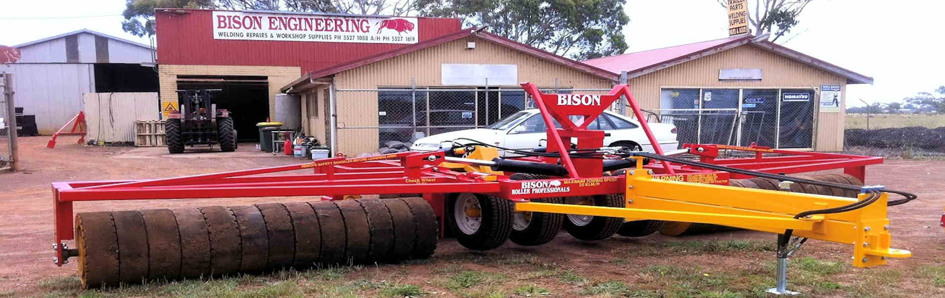 24 foot folding roller with transport wheels